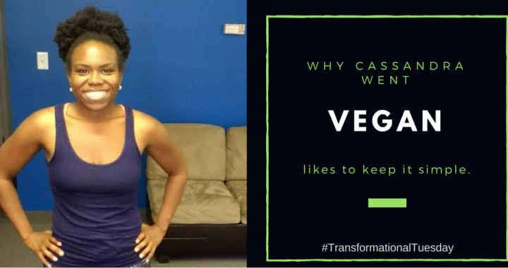 Why Cassandra went vegan and keeps it simple in the kitchen